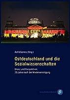 Ostdeutschland und die Sozialwissenschaften:…
