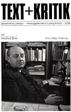 Gottfried Benn (Text Kritik)