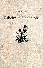 Daheim in Hohenlohe. Sechs lyrische…