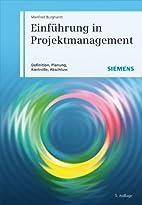 Einfuhrung in Projektmanagement by Manfred…