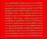 Sebastian Haffner: Der neue Krieg. Zeichen,  Band 10