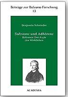 Substanz und Adhärenz by Benjamin Schnieder