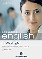 business english - meetings. 2 CDs . Der…