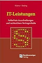 IT-Leistungen. by Panait Istrati