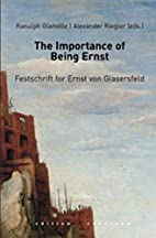 The importance of being Ernst : festschrift…
