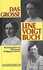 Das große Lene Voigt Buch by Lene…