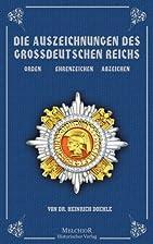 Die Auszeichnungen Des Grossdeutschen…