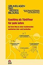 Coaching als Türöffner für gute Lehre:…
