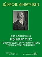 Leonhard Tietz: Fuhrmannssohn und…