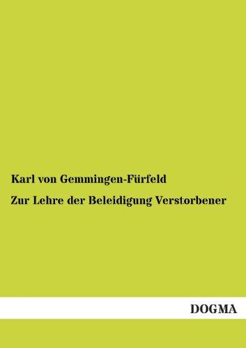 zur-lehre-der-beleidigung-verstorbener-german-edition