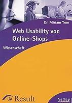 Web Usability von Online-Shops by Miriam Yom