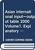 Ajia Keizai Kenkyujo (Japan): Asian International Input-Output Table, 2000