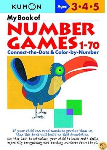 TMy Book Of Number Games 1-70 (Kumon Workbooks)