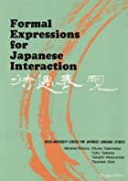 Formal Expressions for Japanese Interaction…