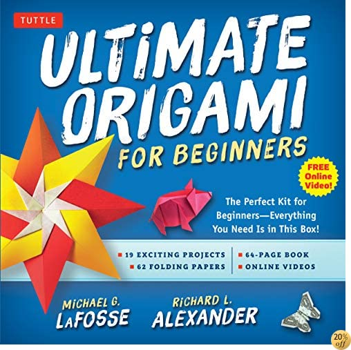 TUltimate Origami for Beginners Kit: The Perfect Kit for Beginners-Everything you Need is in This Box!: Kit Includes Origami Book, 19 Projects, 62 Origami Papers & DVD