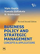 Business Policy And Strategic Management by…