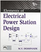 Elements of Electrical Power Station Design…