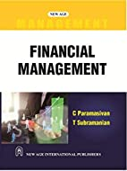 Financial Management by C. Paramasivan
