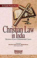 Christian Law in India: Revision of Law of…