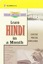 Learn Hindi in a month by Ishwar Datt