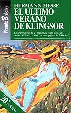El Ultimo Verano de Klingsor y Otras…