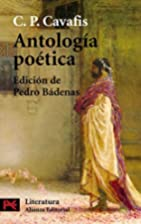 Antología poética by C.P.…