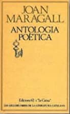 Antologia poètica by Joan Maragall