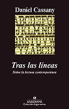 Tras Las Lineas (Spanish Edition) by Daniel…