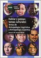 Hablar y pensar, tareas culturales : temas…