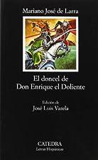 El doncel de Don Enrique el Doliente by…