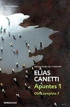 Apuntes by Elias Canetti