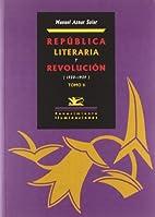 República literaria y revolución…