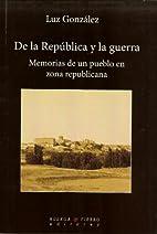 De la República y la guerra :…