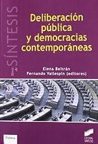 DELIBERACION PUBLICA Y DEMOCRACIAS…