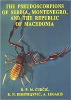 The pseudoscorpions of Serbia, Montenegro…