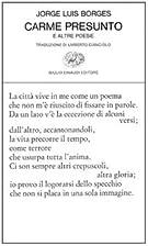 Carme presunto e altre poesie by Jorge Luis…