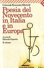 Poesia del Novecento in Italia e in Europa…