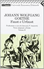 Faust E Urfaust Voll II (Italian Edition) by…