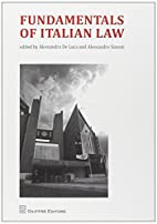 Fundamentals of italian law by A. De Luca A.…