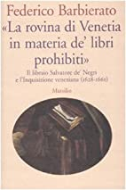 La «rovina di Venetia in materia de' libri…