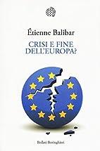 Crisi e fine dell'Europa? (Italian…