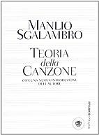 Teoria della canzone by Manlio Sgalambro