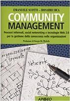 Community management. Processi informali,…