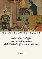 Università, teologia e studium domenicano…