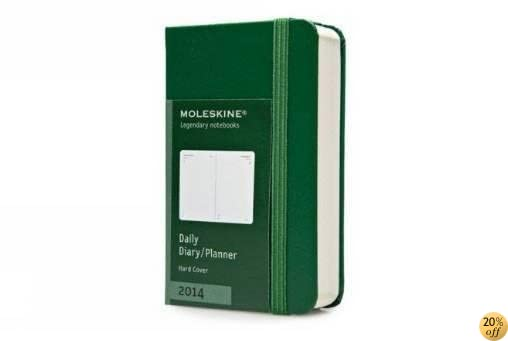 TMoleskine 2014 Daily Planner, 12 Month, Extra Small, Oxide Green, Hard Cover (2.5 x 4 ) (Planners & Datebooks)