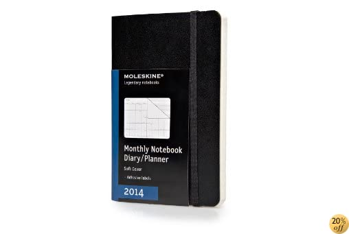TMoleskine 2014 Monthly Planner, 12 Month, Pocket, Black, Soft Cover (3.5 x 5.5) (Planners & Datebooks)