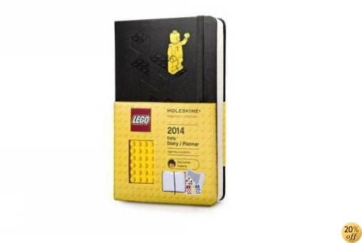 TMoleskine 2014 LEGO Limited Edition Daily Planner, 12 Month, Large, Black, Hard Cover (5 x 8.25) (Planners & Datebooks)