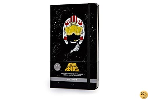 TMoleskine 2015 Star Wars Limited Edition Weekly Notebook, 12M, Large, Black, Hard Cover (5 x 8.25) (Moleskine Star Wars)