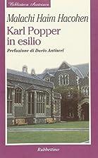 Karl Popper in esilio by Malachi Haim…