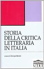 Storia della critica letteraria in Italia…